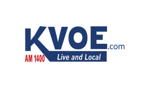 Fred North Voice Over Actor KVOE Logo